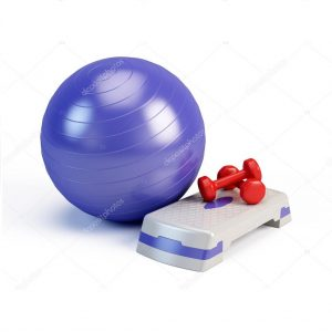 Exercise balls and Weights